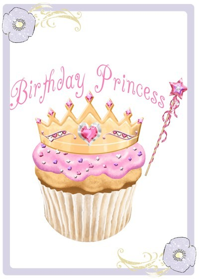 Birthday princess cupcake