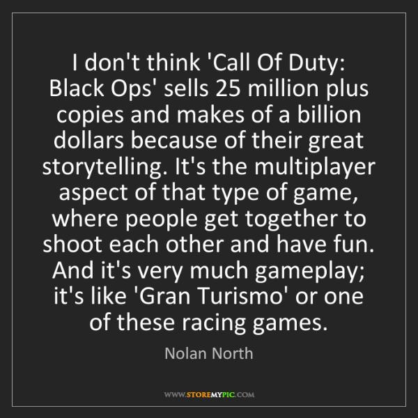 Nolan North: I don't think 'Call Of Duty: Black Ops' sells 25 million...