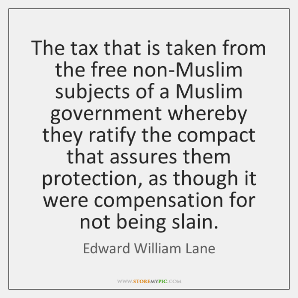 The tax that is taken from the free non-Muslim subjects of a ...