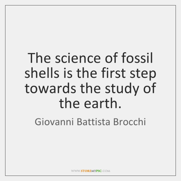 The science of fossil shells is the first step towards the study ...