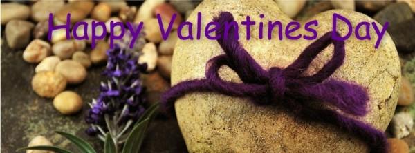 Happy valentines day heart stone