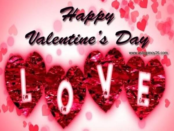 Happy valentines day love