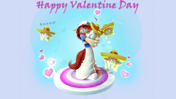 Happy valentines day loving wallpaper