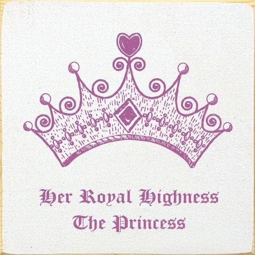 Her royal highness the princess
