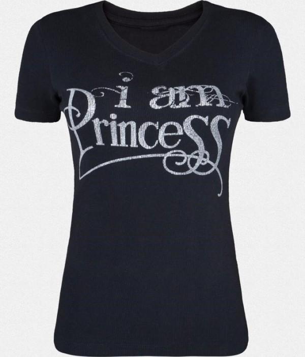 I am princess on black tshirt for girls