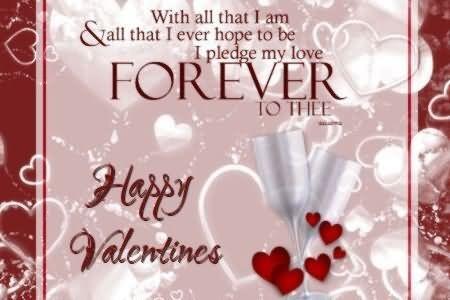 I pledge my love forever happy valentine