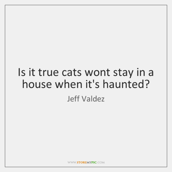 Is it true cats wont stay in a house when it's haunted?