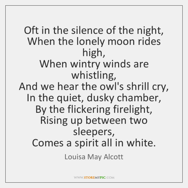 Oft In The Silence Of The Night When The Lonely Moon Rides