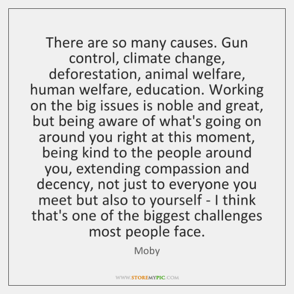 There are so many causes. Gun control, climate change, deforestation, animal welfare, ...