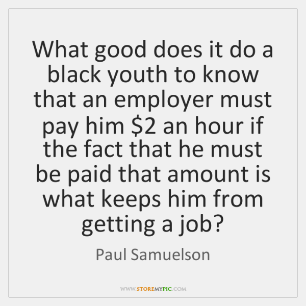 What good does it do a black youth to know that an ...