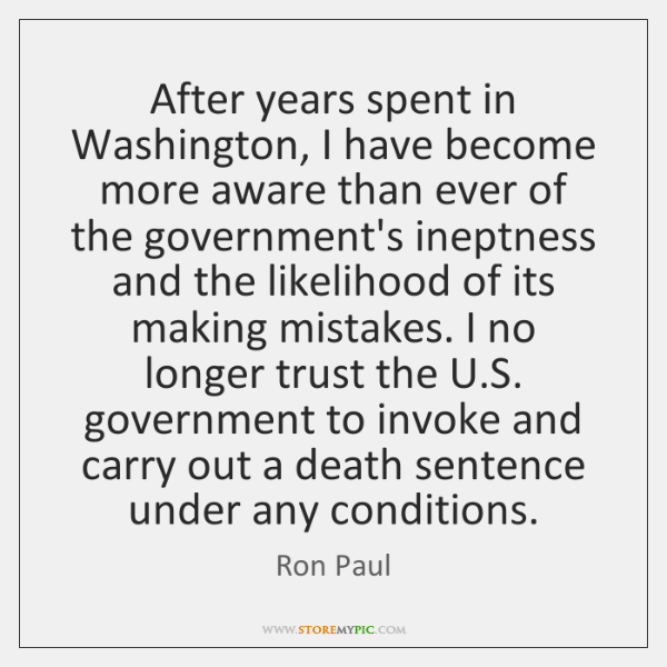 After years spent in Washington, I have become more aware than ever ...