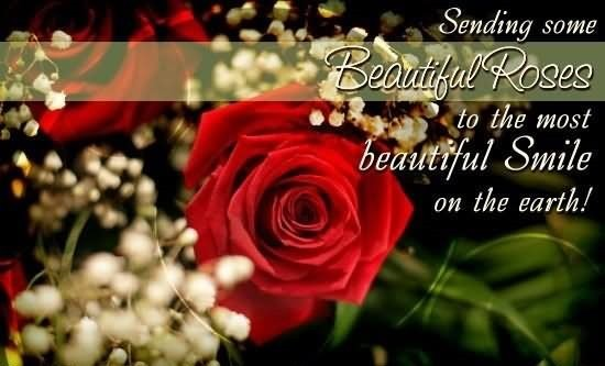 Sending some beautiful rose to the most beautiful smile on the earth