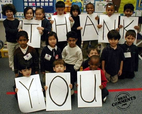 Thank you note with kids