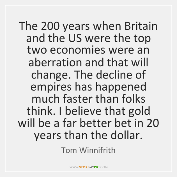 The 200 years when Britain and the US were the top two economies ...