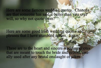 These are to the heart and sincere that are meant to touch the bride and groom