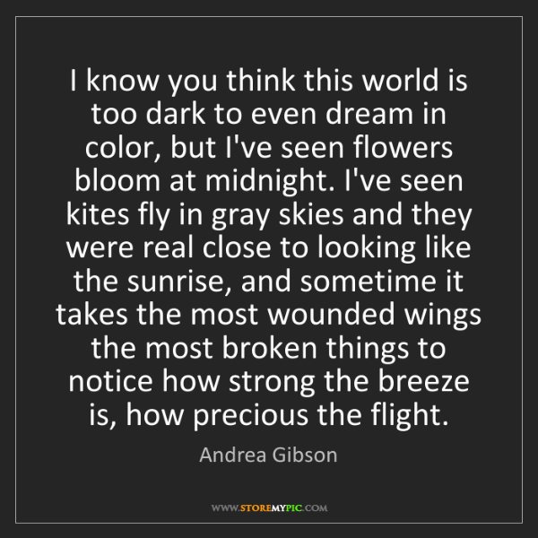 Andrea Gibson: I know you think this world is too dark to even dream...