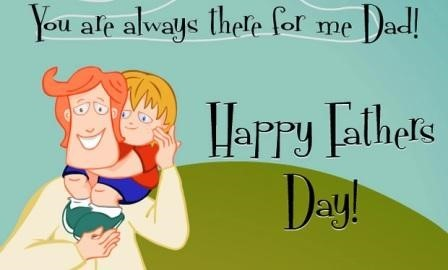 You are always there for me dad happy fathers day