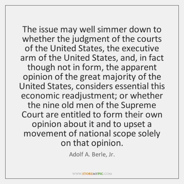 The issue may well simmer down to whether the judgment of the ...