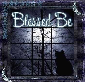 Blessed be black cat
