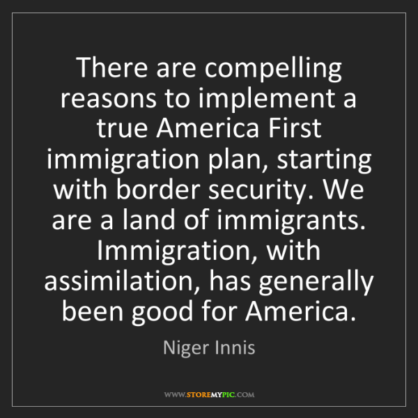 Niger Innis: There are compelling reasons to implement a true America...