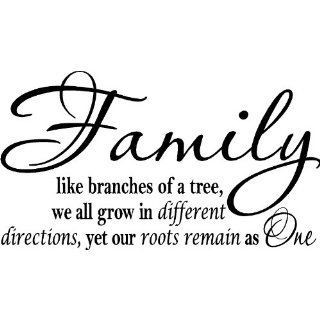 Family Like Branches Of A Tree We All Grow In Different Directions