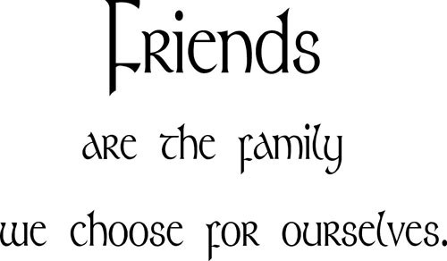 Friends Are The Family We Choose For Ourselves Storemypic