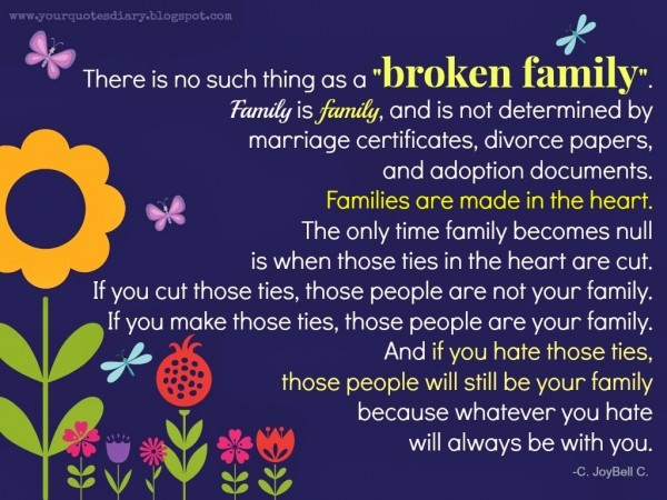 There is no such thing as a broken family