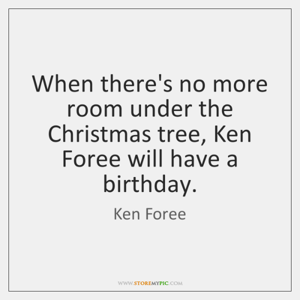 When there's no more room under the Christmas tree, Ken Foree will ...