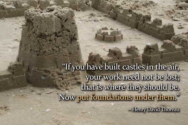 If you have built castles in the air your work need not be lost that is where they sho