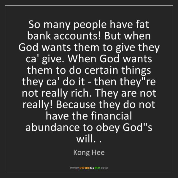 Kong Hee: So many people have fat bank accounts! But when God wants...