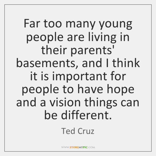 Far too many young people are living in their parents' basements, and ...