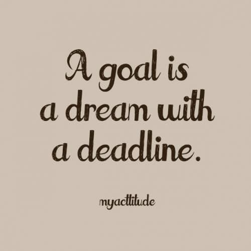 A goal is a dream without a deadline