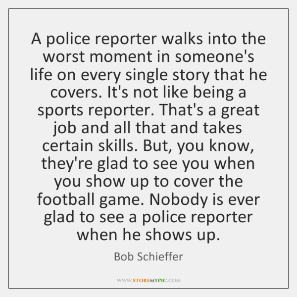 A police reporter walks into the worst moment in someone's life on ...