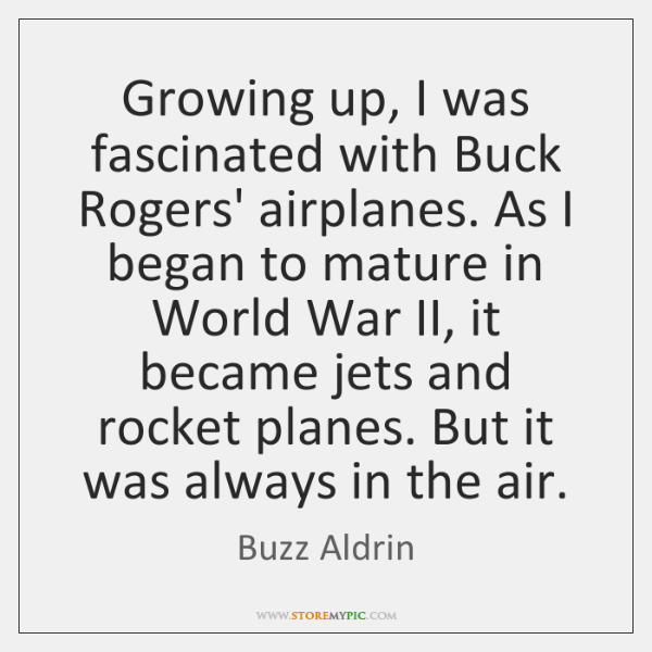 Growing up, I was fascinated with Buck Rogers' airplanes. As I began ...