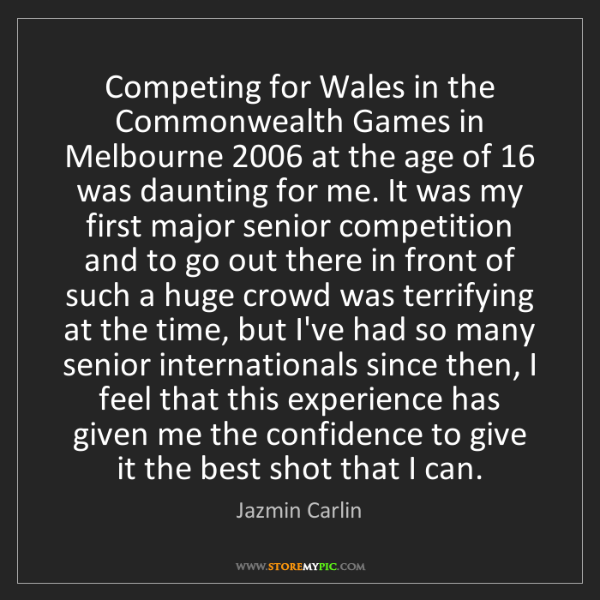 Jazmin Carlin: Competing for Wales in the Commonwealth Games in Melbourne...