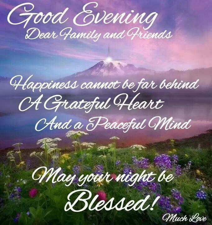 Good Evening Dear Family And Friends Happiness Cannot Be For Behind