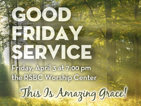 Good friday service this is amazing grace