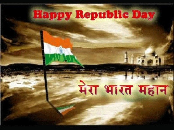 Happy republic day mera bharat mahaan