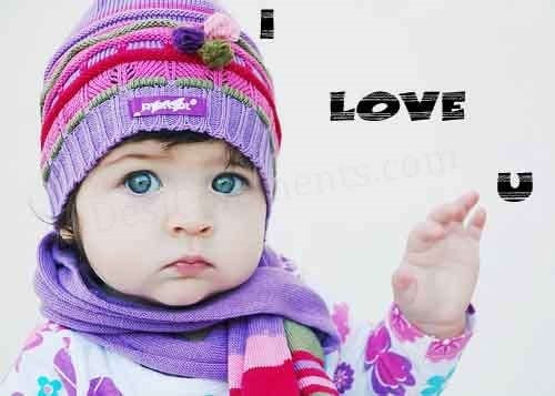 I Love U cute Baby Wallpaper : cute Baby I Love You Images Wallpaper Images