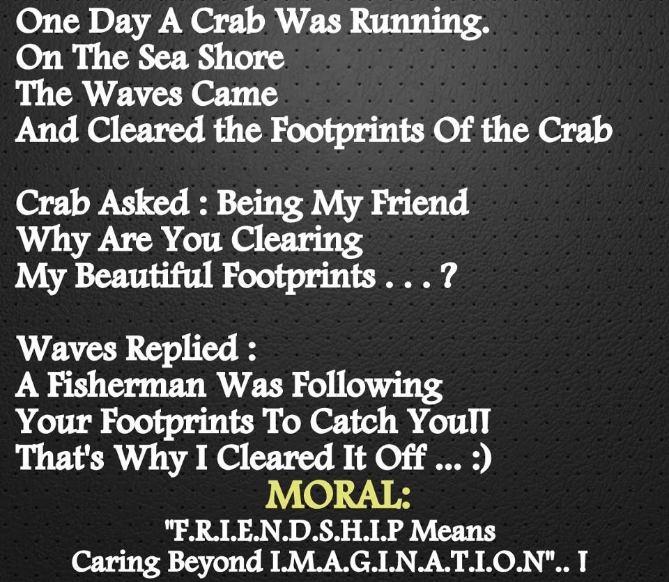 One Day A Crab Was Running On The Sea Share The Waves Came And