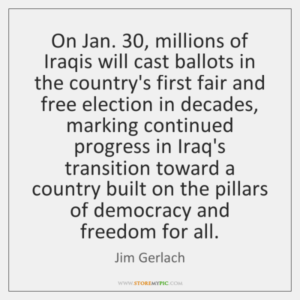 On Jan. 30, millions of Iraqis will cast ballots in the country's first ...