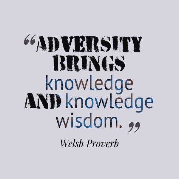 Adversity brings knowledge and knowledge wisdom