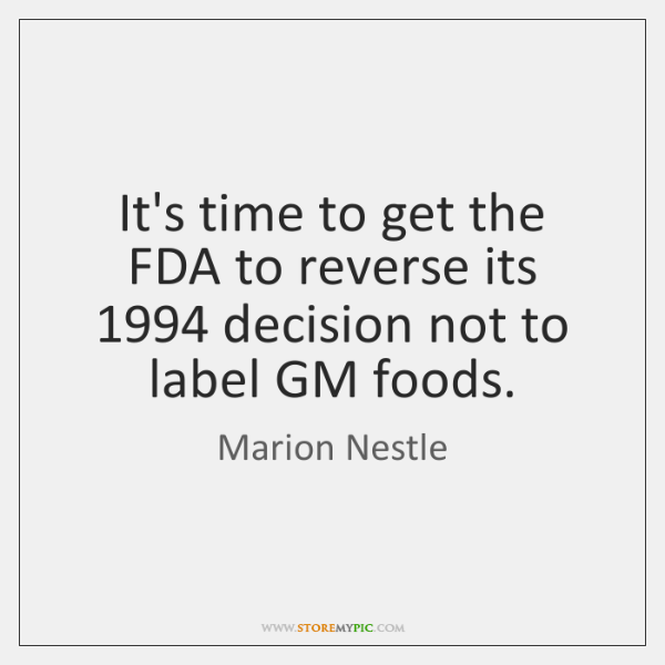 It's time to get the FDA to reverse its 1994 decision not to ...