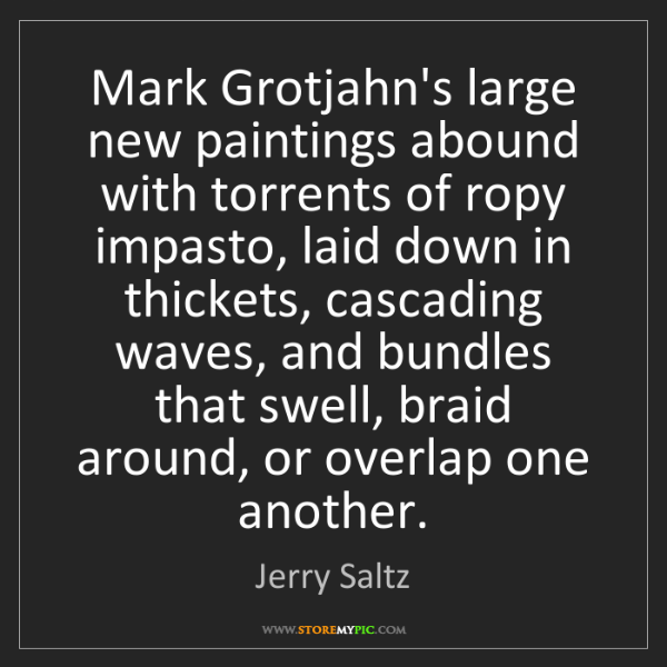 Jerry Saltz: Mark Grotjahn's large new paintings abound with torrents...