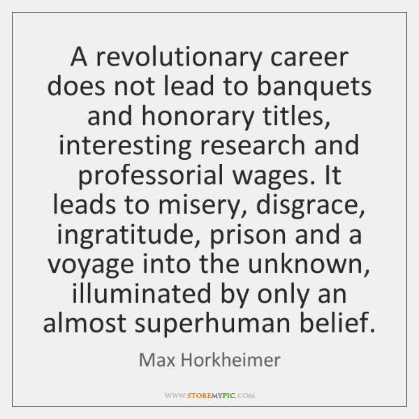 A revolutionary career does not lead to banquets and honorary titles, interesting ...