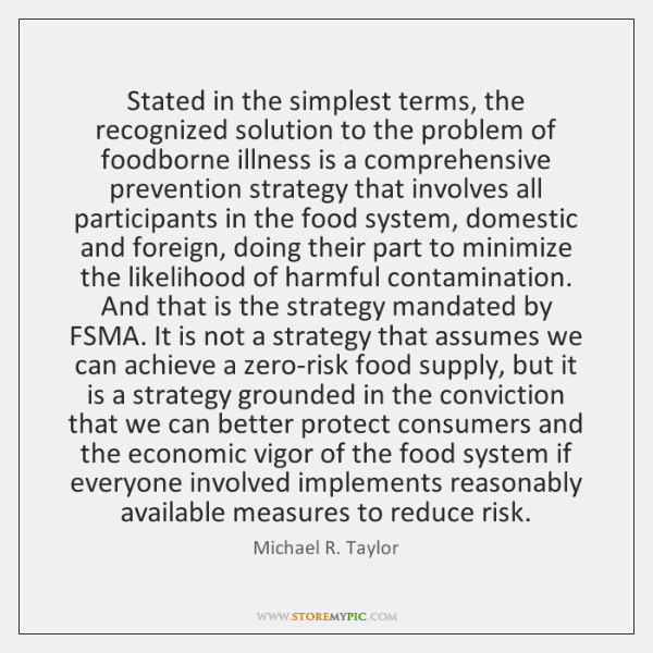 Stated in the simplest terms, the recognized solution to the problem of ...