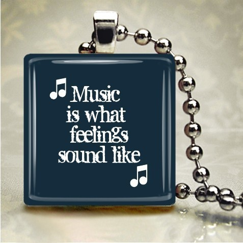 Music is what feelings sound like bracelet