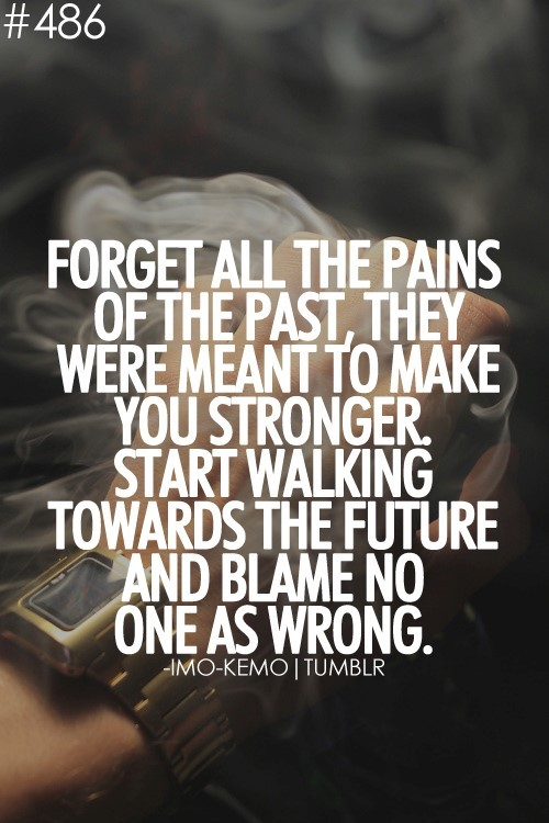 forget all the pains of the past they were meant to make you