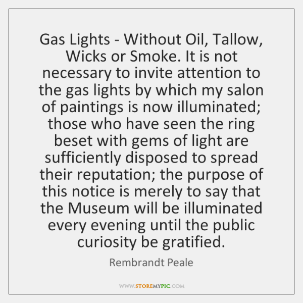 Gas Lights - Without Oil, Tallow, Wicks or Smoke. It is not ...