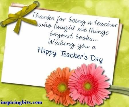 Thank you for being a teacher happy teachers day